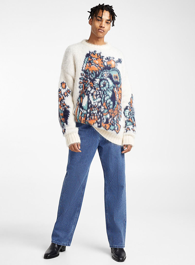 Le pull jacquard - Y/Project - Blanc