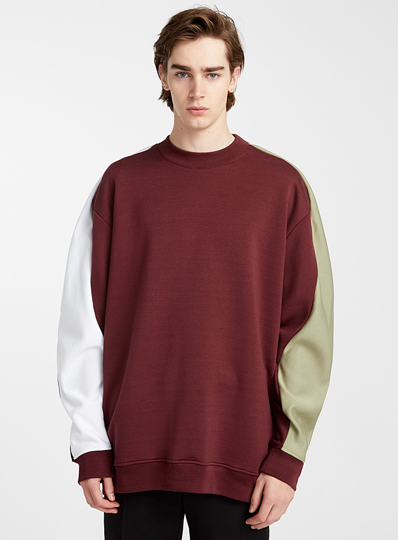 Oversized multicolour sweatshirt - Y/Project - Ruby Red