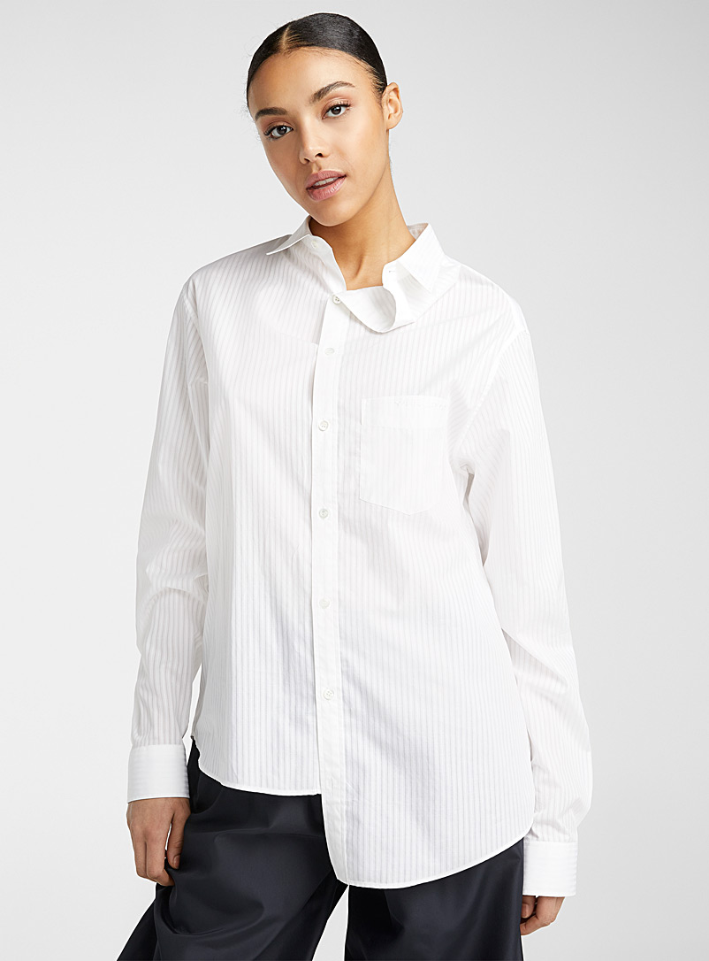 Y/Project White Asymmetric blouse for women
