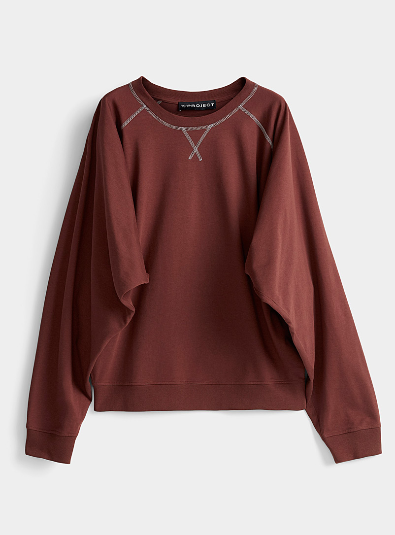Y/Project: Le sweat surfilé accent Mauve pour femme