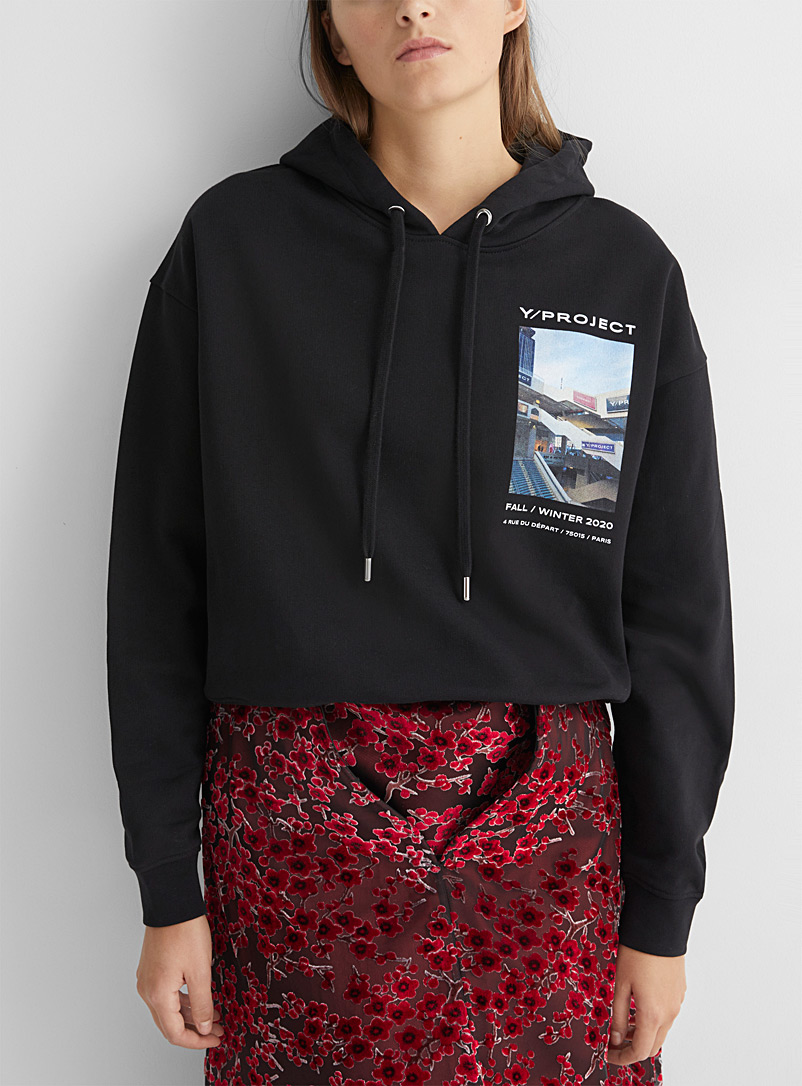 Y/Project Black Fall/winter 2020 runway sweatshirt for women