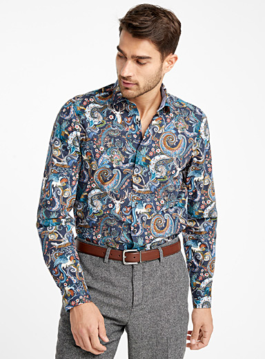Animal print paisley shirt <br>Slim fit