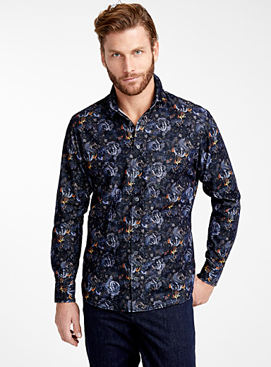 Nocturnal floral corduroy shirt  Modern fit