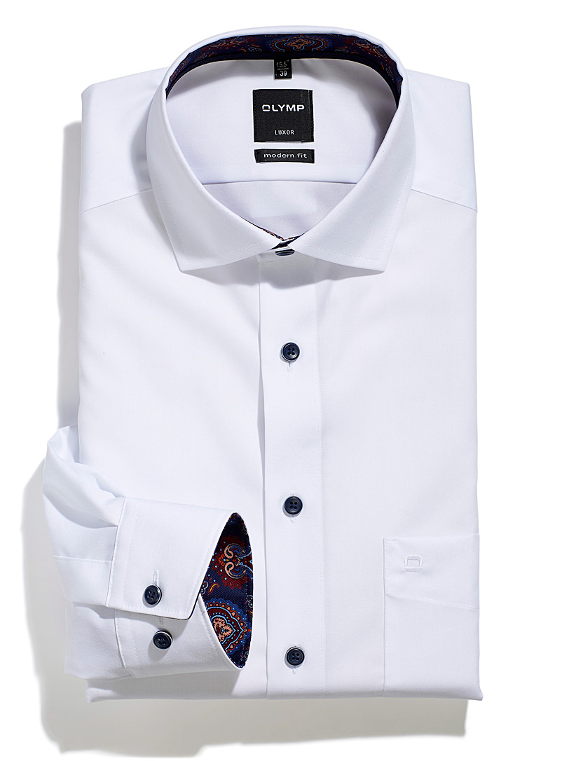 Olymp White Patch pocket white shirt Comfort fit for men
