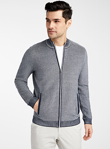Zip knit cardigan