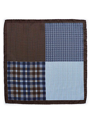 Dot and check pocket square