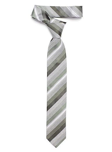 Retro diagonal stripe tie