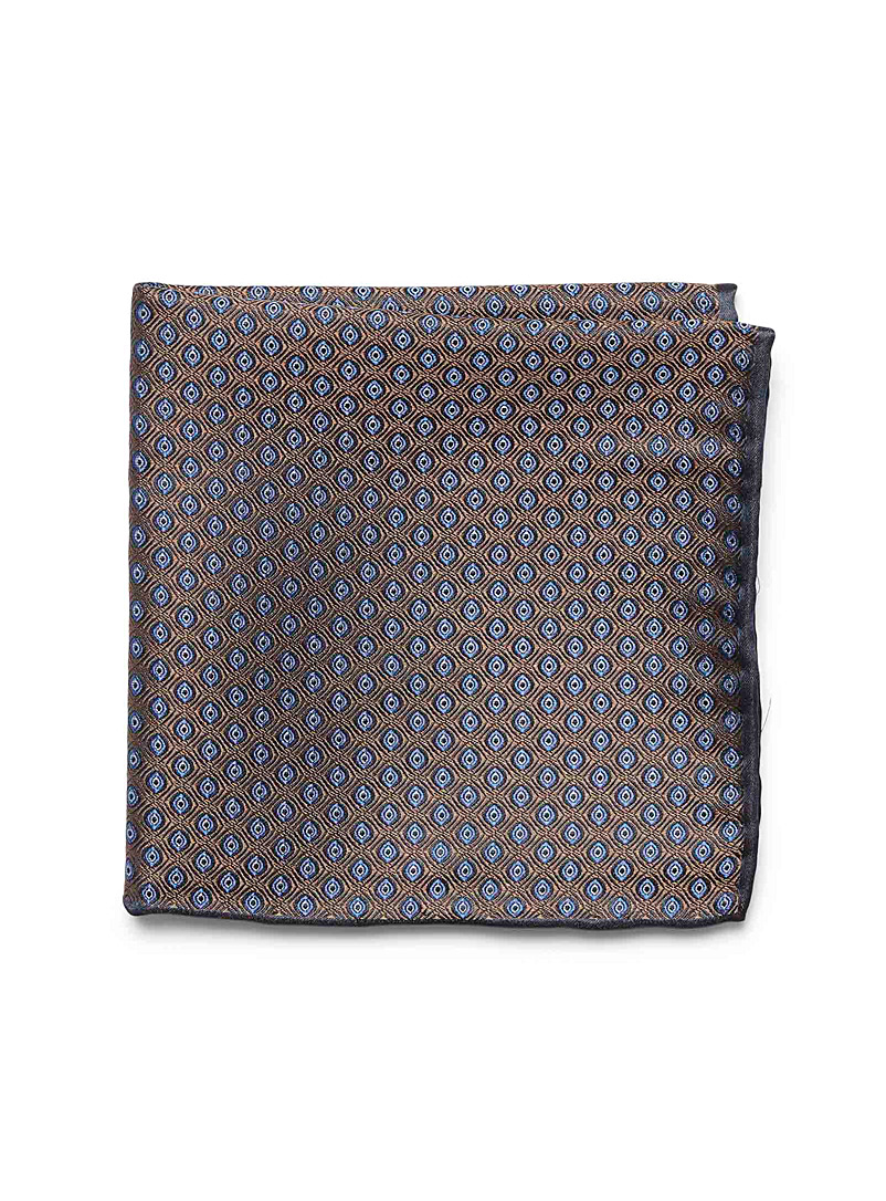 Diamond jacquard pocket square - Pocket Squares & Scarves - Brown