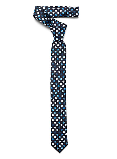 Olymp Marine Blue Painterly disc tie for men