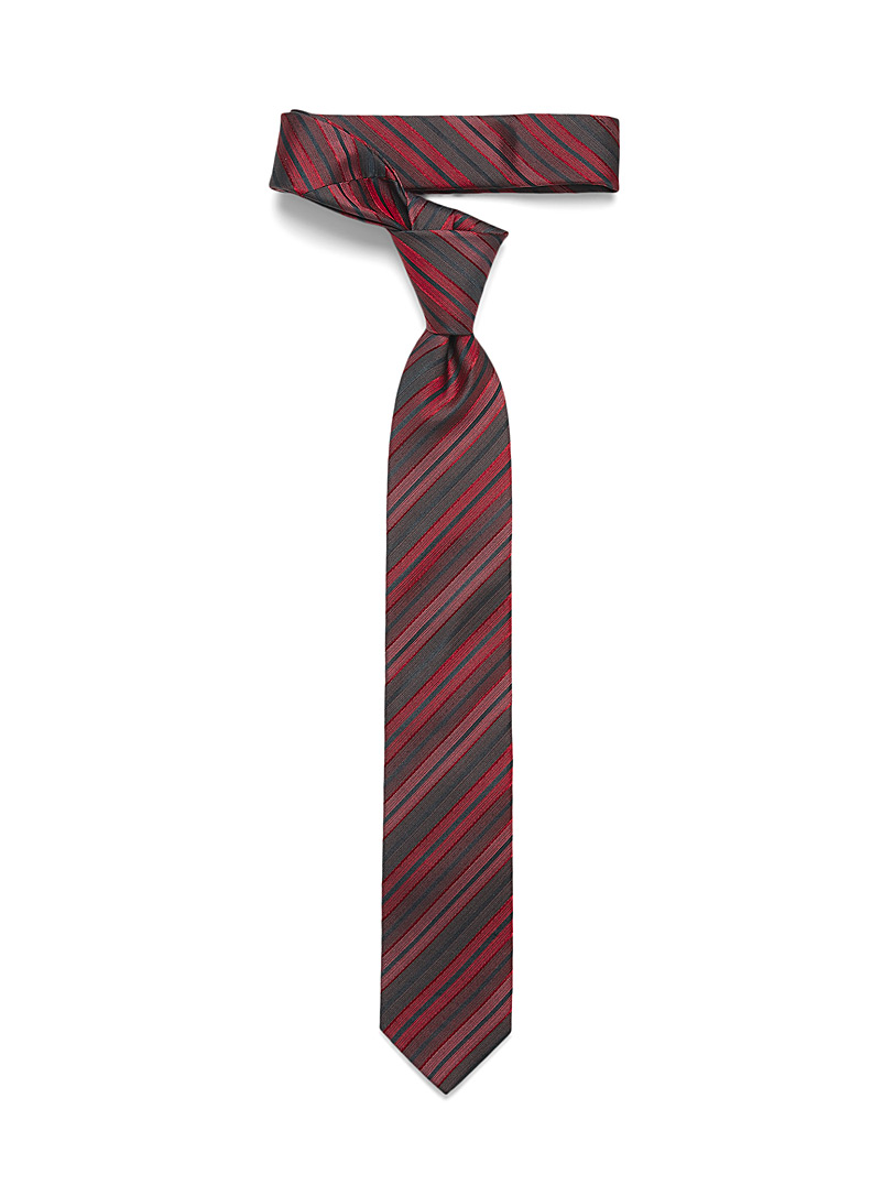 Olymp Red Graded stripe tie for men