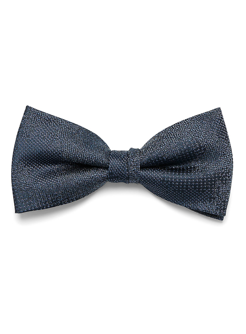 Olymp Blue Pixel jacquard bow tie for men