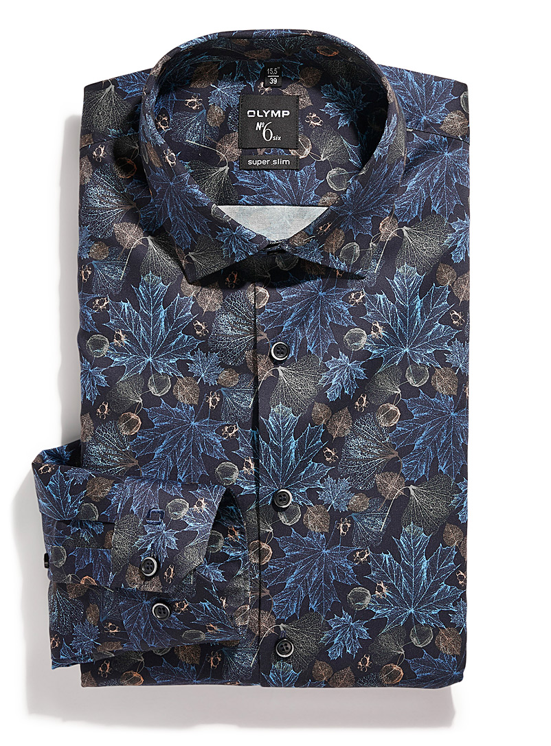 Hologram foliage shirt  Slim fit