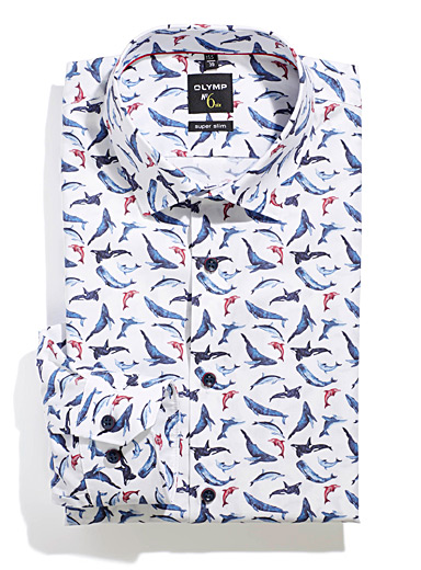 Marine mammal shirt <br>Slim fit