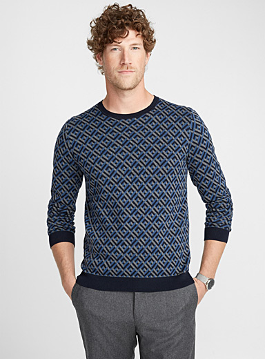 Geometric jacquard sweater