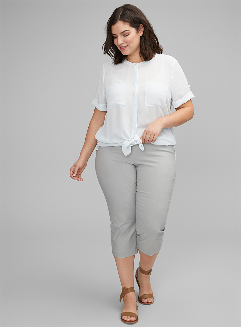 Up! Grey Essential slimming capris Plus size for women