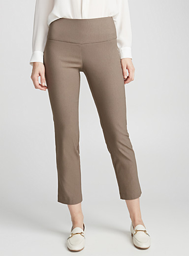 Illusion-waist ankle pant