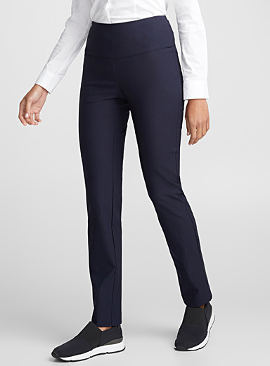Illusion-waist pull-on pant