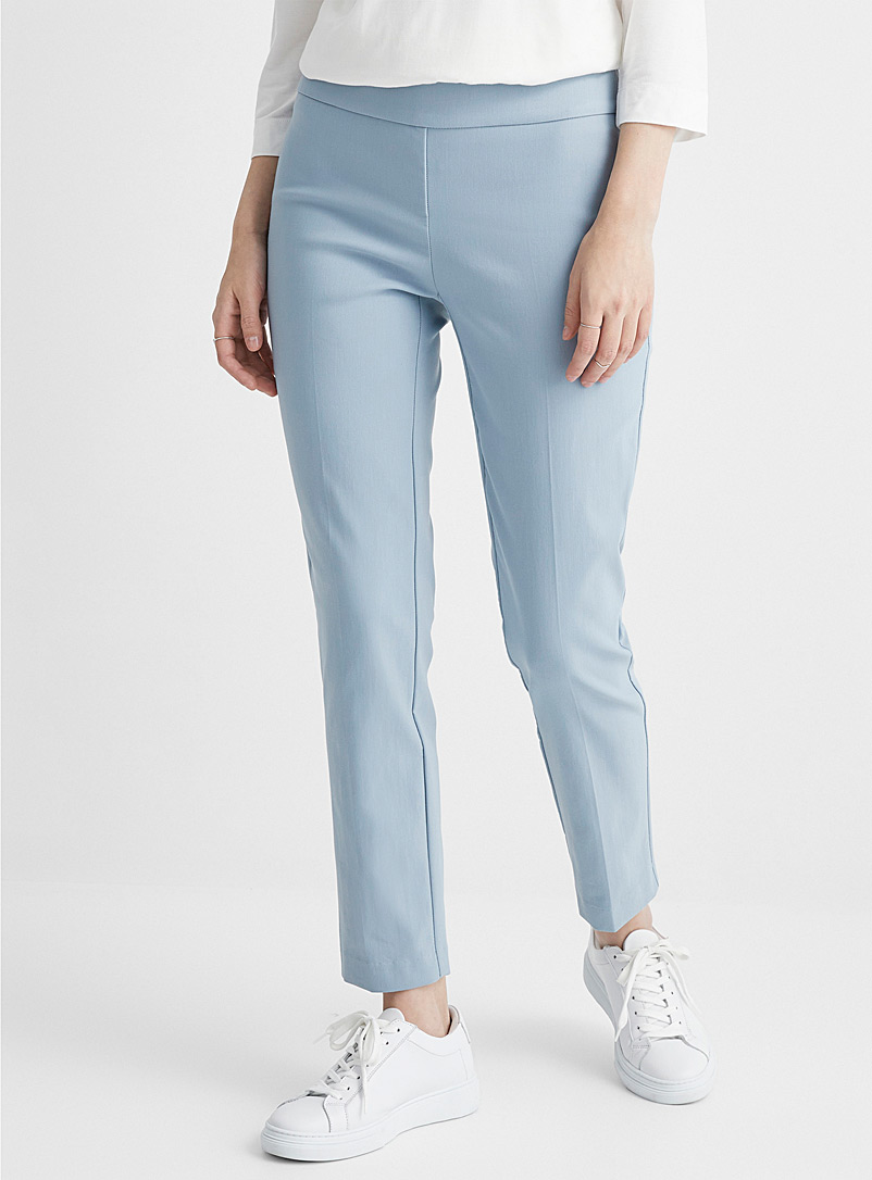 Stretch twill slimming pant