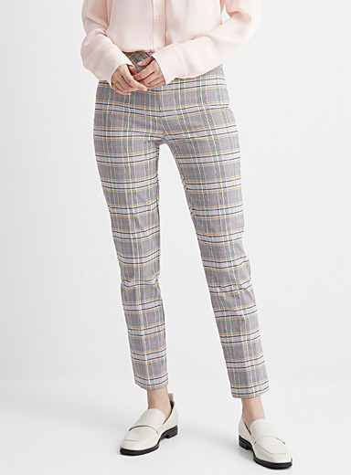 Norway plaid slimming pant