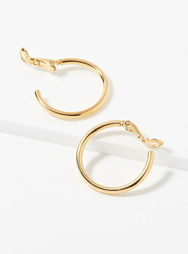 Francine Bramli Assorted Minimalist gold hoops for women
