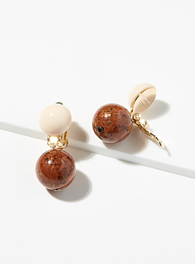 Hazelnut sphere earrings