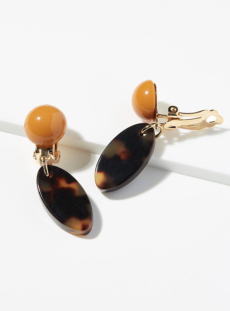 Francine Bramli Assorted brown Tortoiseshell earrings for women