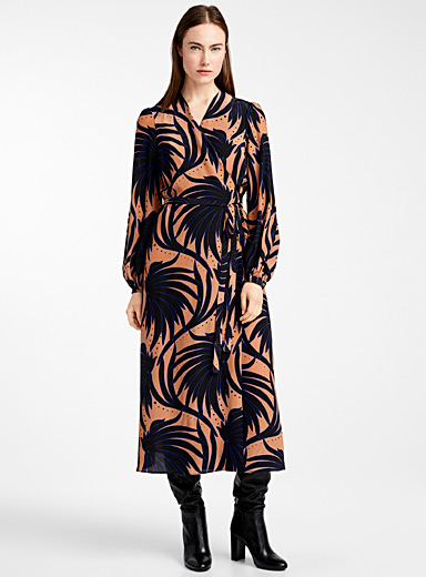 Fluid graphic dress