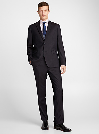 Dark bird's-eye suit <br>Berlin fit - Regular