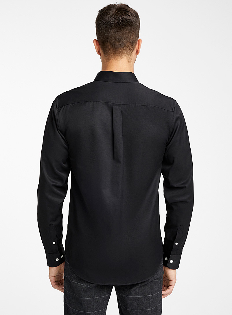 Water-repellent Traveller shirt  Modern fit - Solid - Black