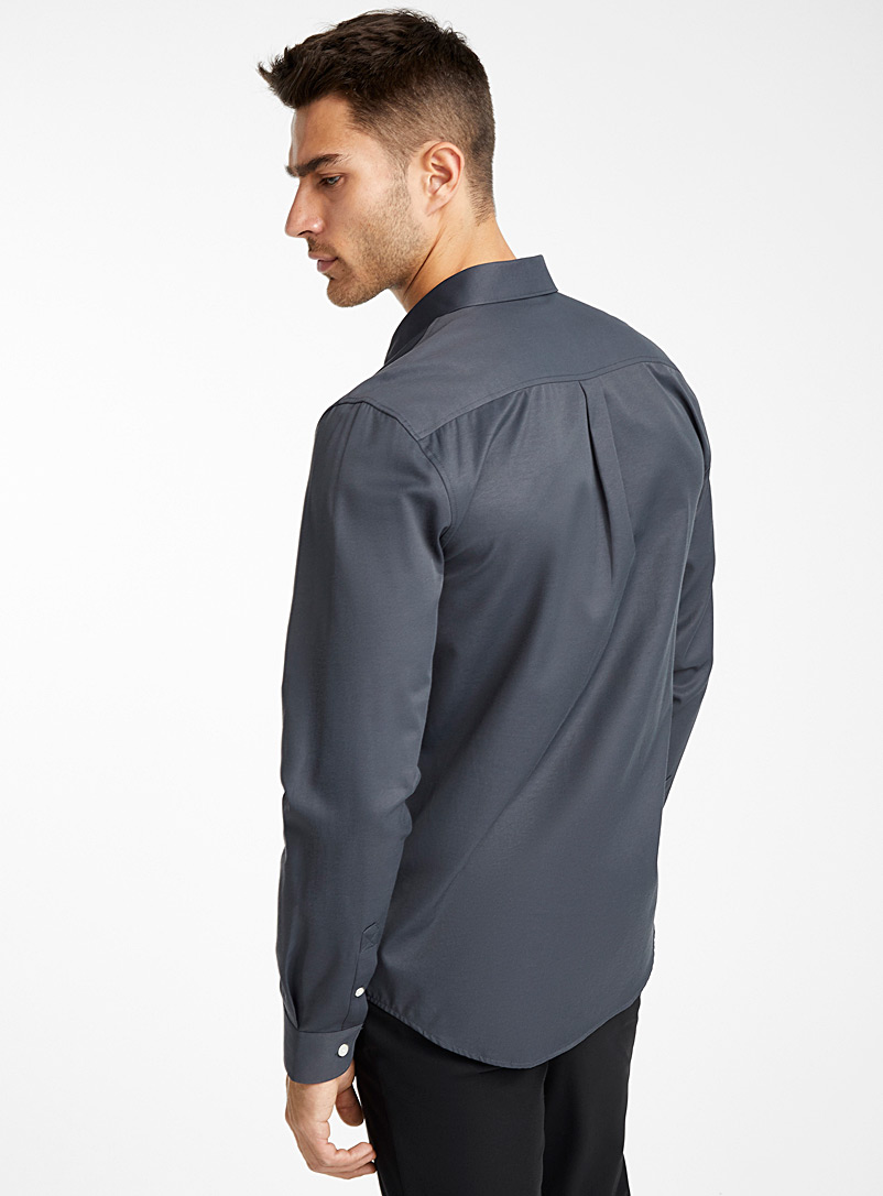 Water-repellent Traveller shirt  Modern fit - Solid - Grey