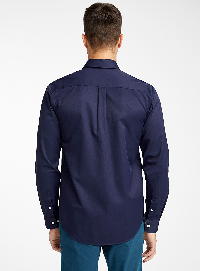 Water-repellent Traveller shirt  Modern fit - Solid - Marine Blue