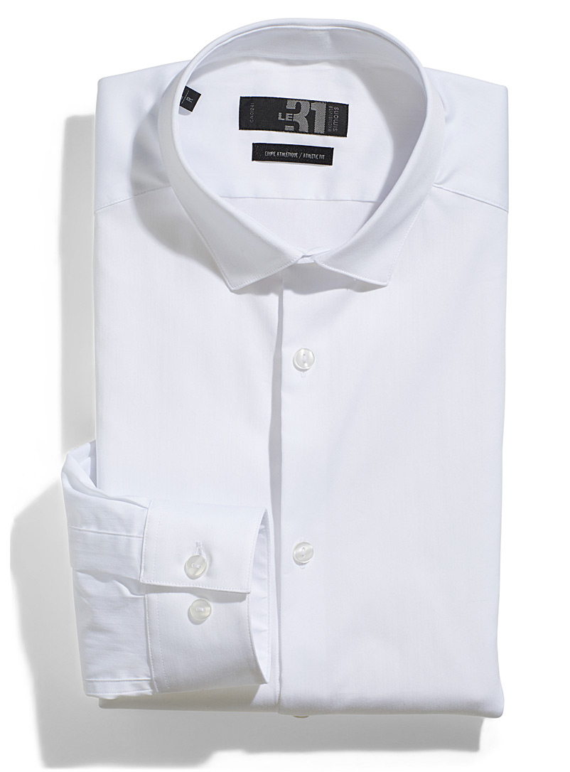 Athletic stretch shirt  Athletic fit - Athletic Fit - White