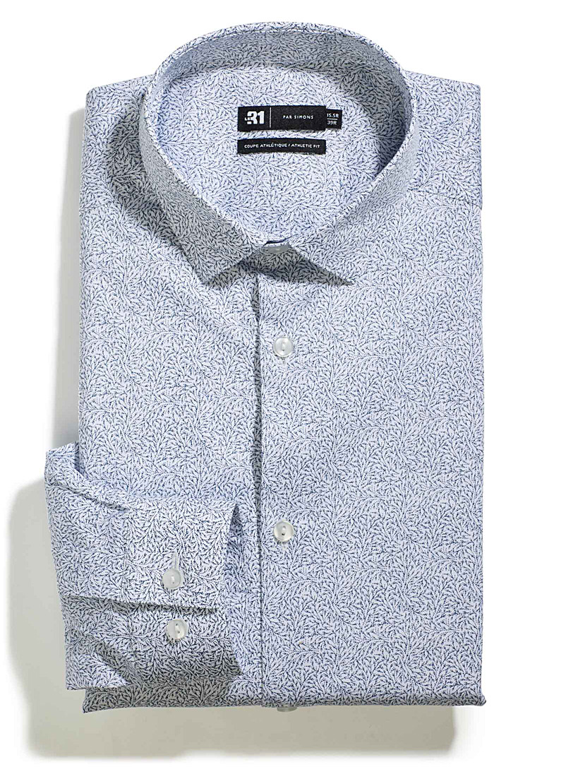 Abstract pattern shirt  Athletic fit - Athletic Fit - Patterned Blue