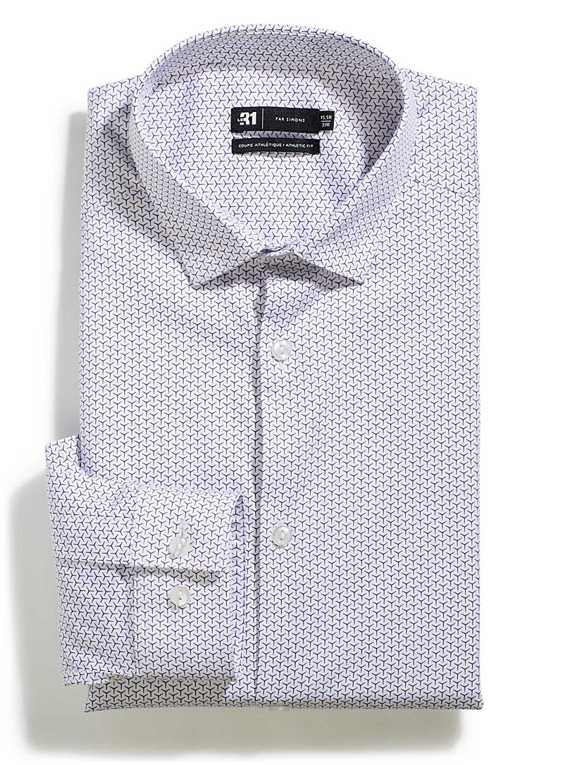 Abstract pattern shirt  Athletic fit - Athletic Fit - Purple
