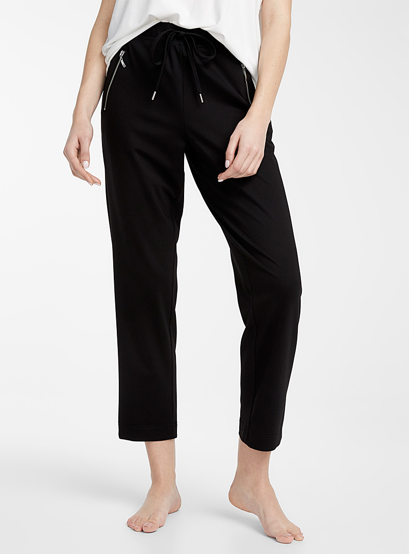 Miiyu Black Utility lounge pant for women