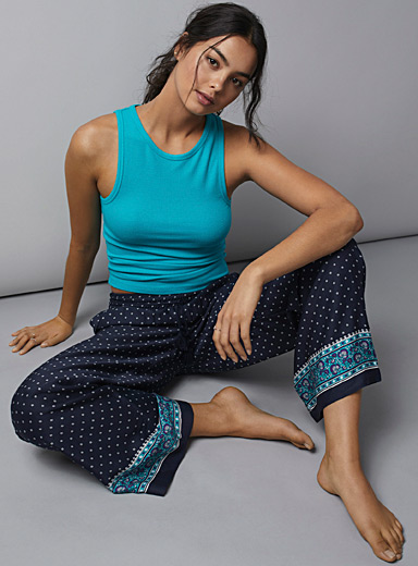 Tapestry ankle-stripe pant