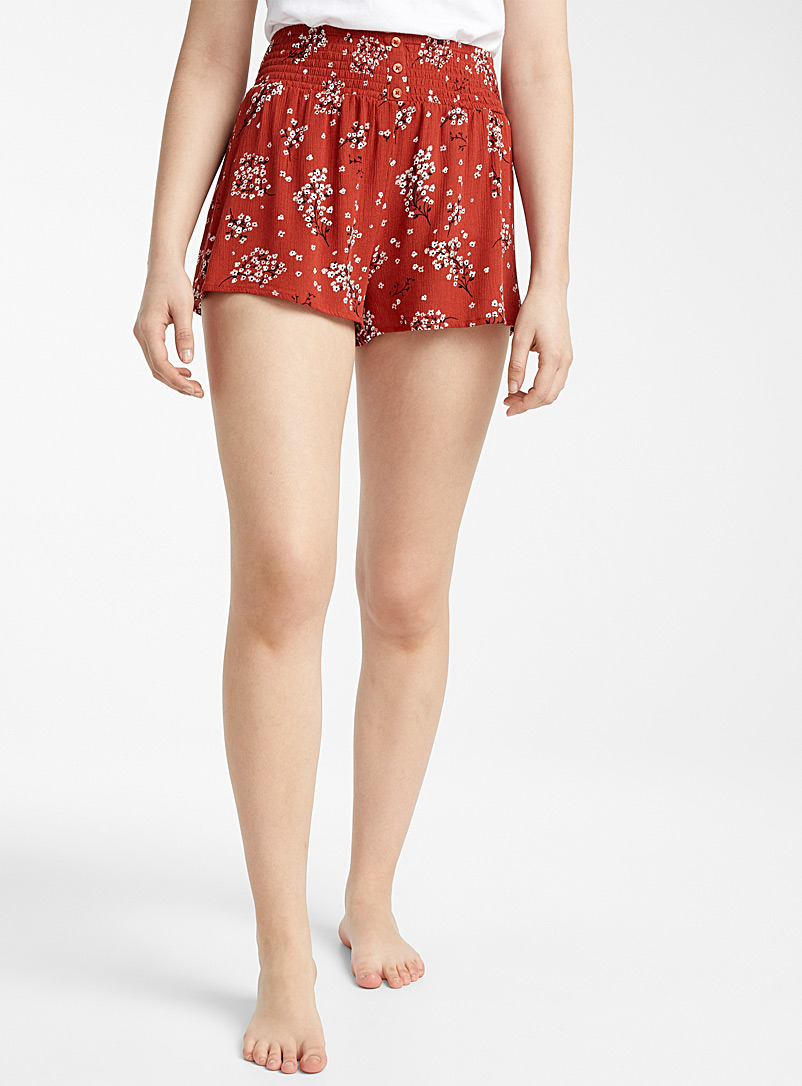 Miiyu x Twik Patterned Red Fluid pretty blossom boxer for women