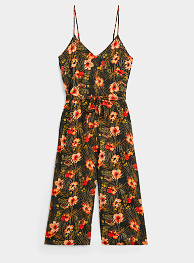 Eco-friendly viscose belted jumpsuit