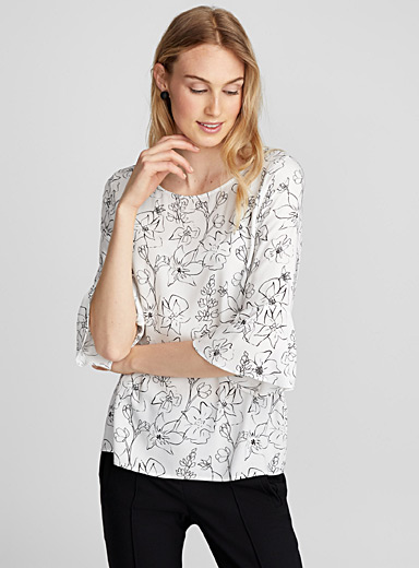 Floral sketch blouse