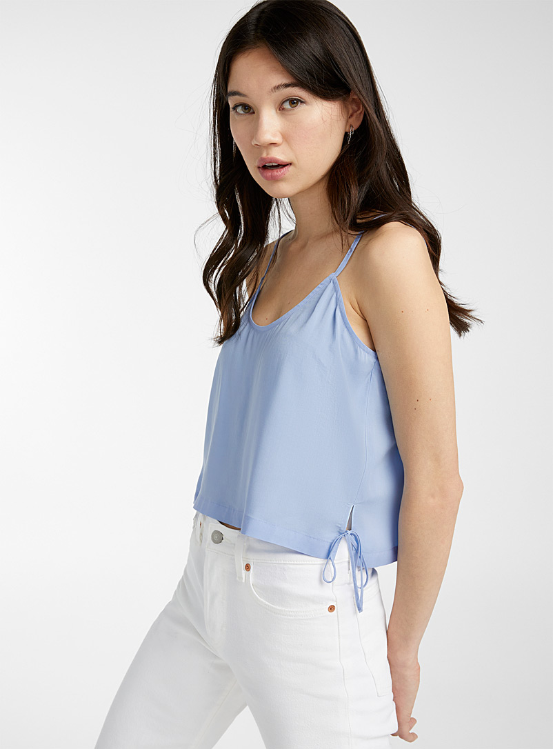 Twik Baby Blue Accent-bow cami for women