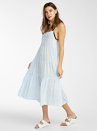 Lightweight ruffled eco-friendly viscose dress