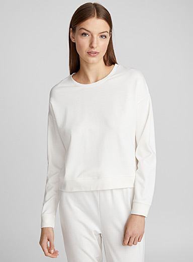 Cream lounge sweatshirt