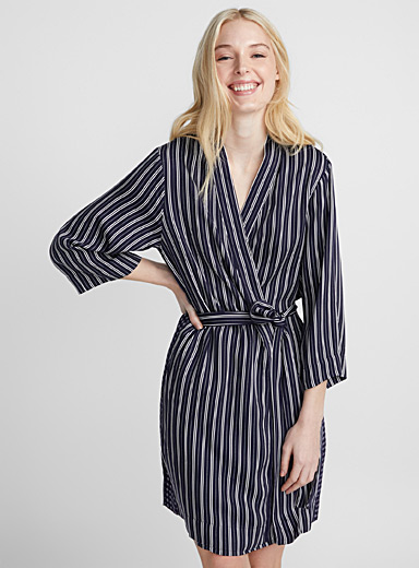 Beautifully striped kimono robe