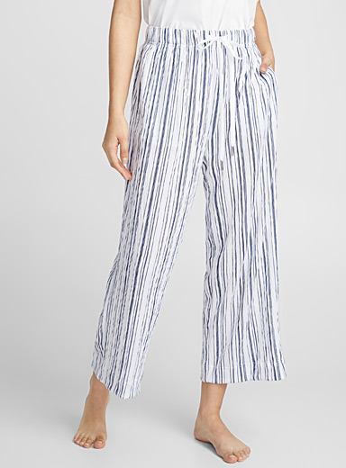 Striped crinkled pant