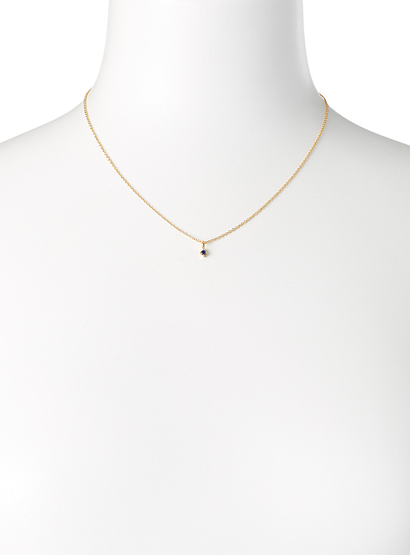 Trois petits points Assorted Sapphire sphere necklace for women