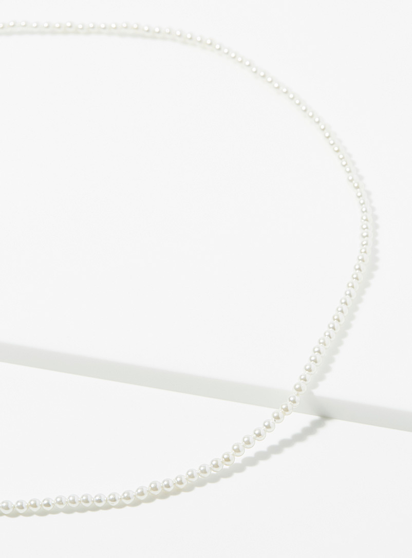Classic mini-pearl necklace