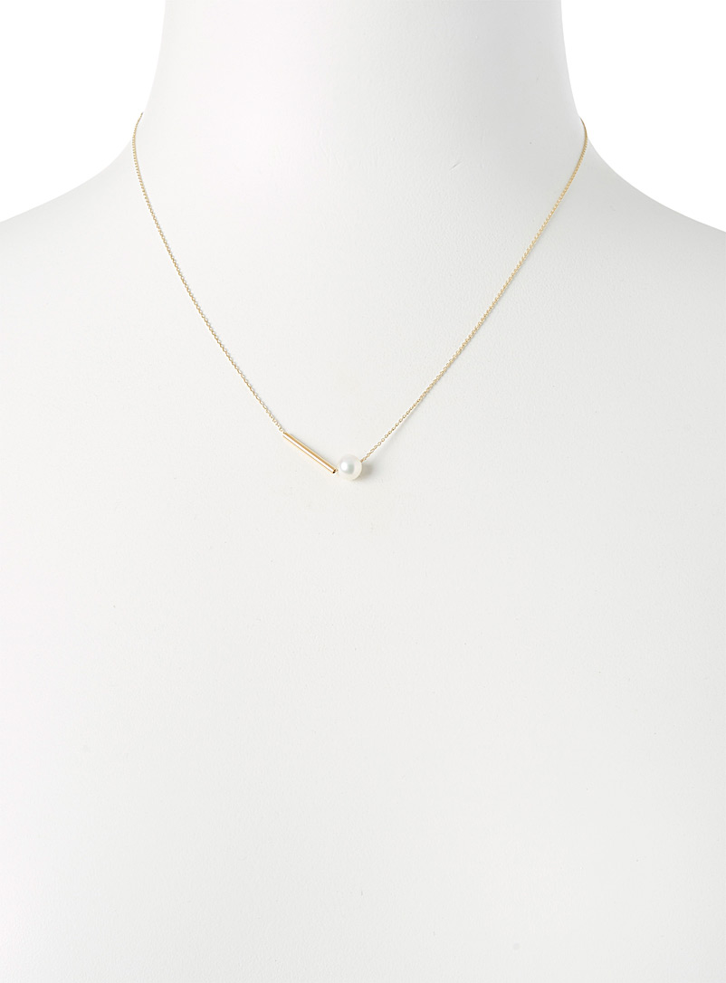 Golden pearl necklace - Necklaces - Assorted