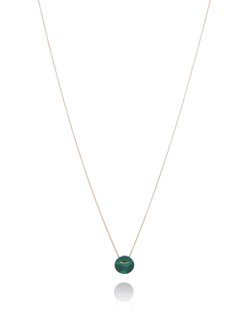 Le collier Round Stone - Colliers - Vert