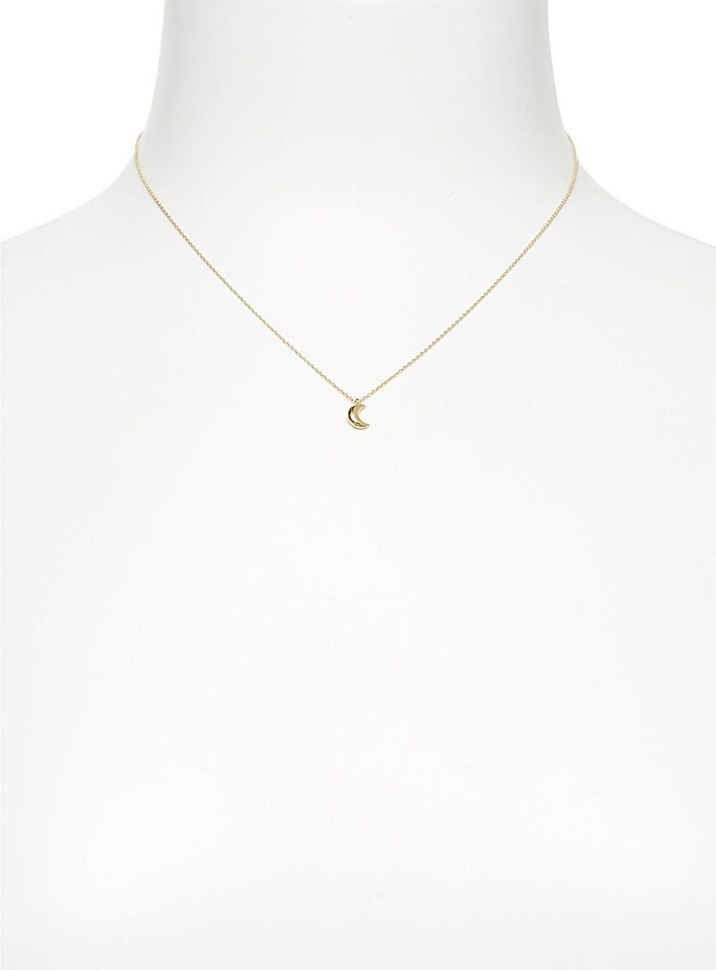 Trois petits points Assorted Lune necklace for women