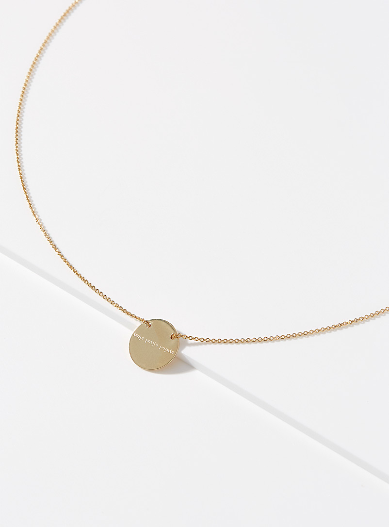 Trois petits points Assorted Full moon necklace for women